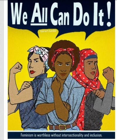 Cartel de movimiento feminista