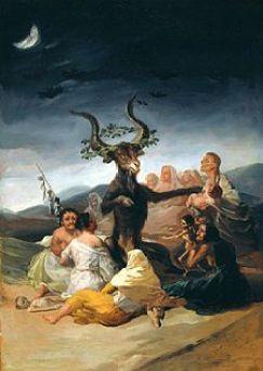 """""""El aquelarre"""", de Goya, 1798"""