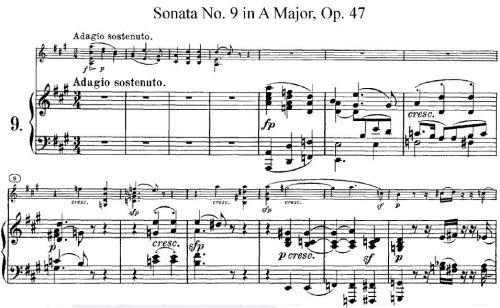 Partitura de la sonata Kreutzer