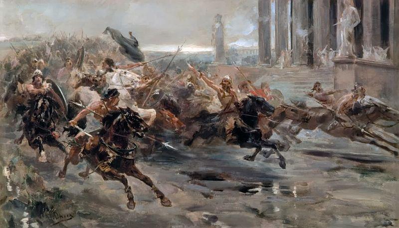 Atila es una de las fuguras históricas a las que se relaciona con la caída del Imperio romano de Occidente