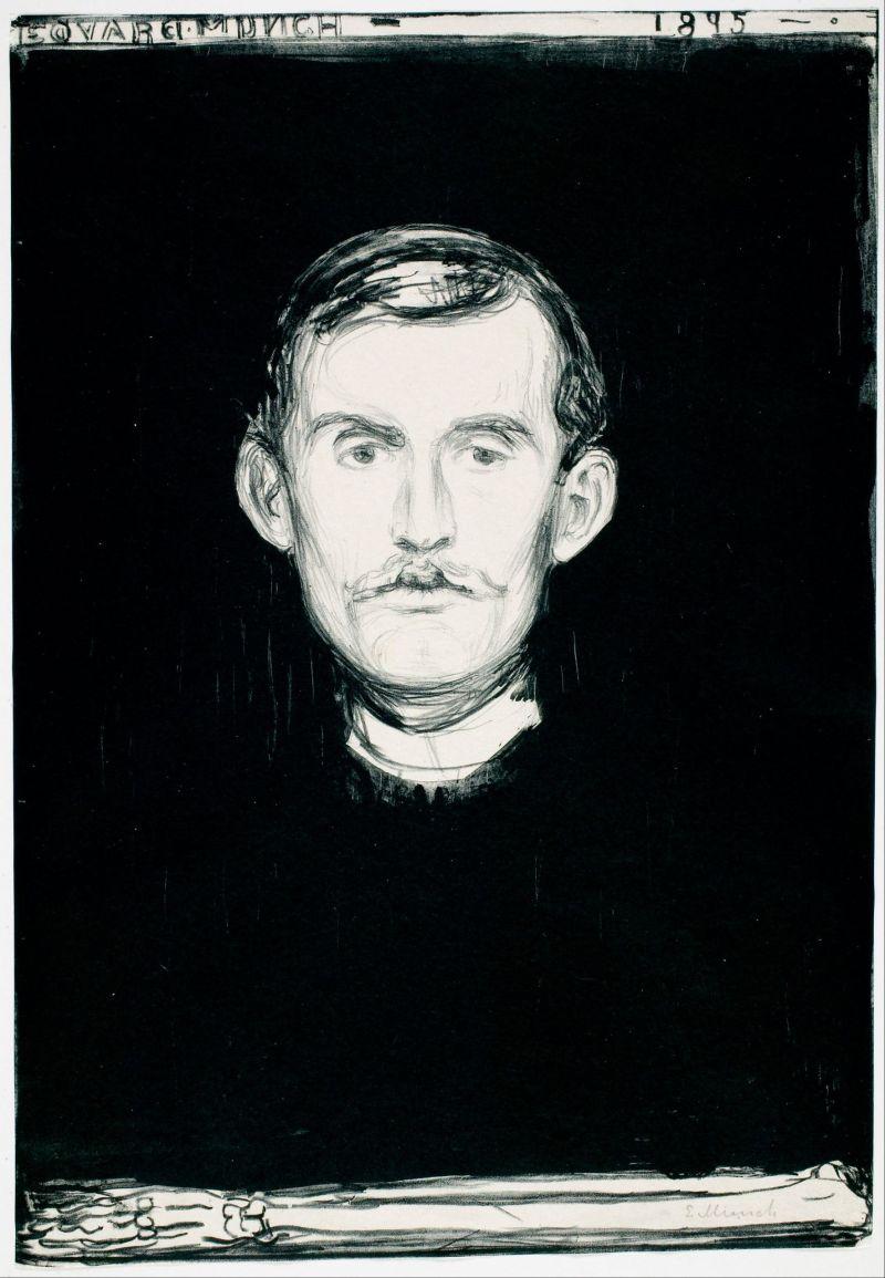 Autorretrato (Edvard_Munch, 1895) (Munchmuseet, Oslo)