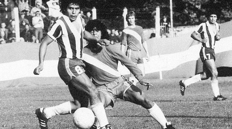 Maradona en su debut