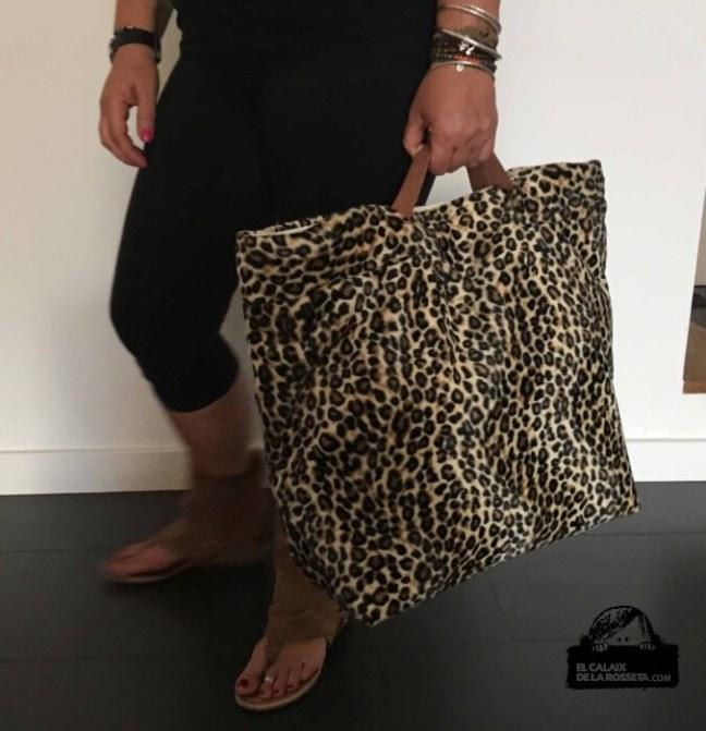 Bolsa tipo capazo con tela de Print Animal