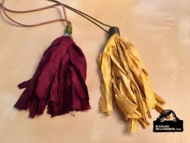 Colgantes en tela de Sari