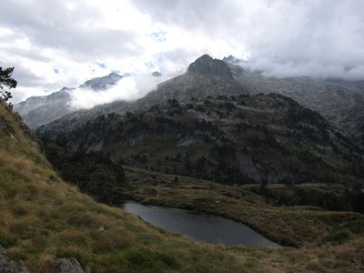 Pico Aneto desde el segundo ibon