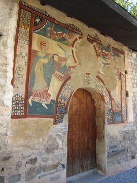 Frescos exteriores de la Iglesia de San Juan de Boí.