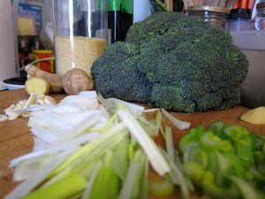 Cuscus de brócoli y gambas 02