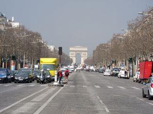 Arco del Triunfo desde los Campos Eliseos.
