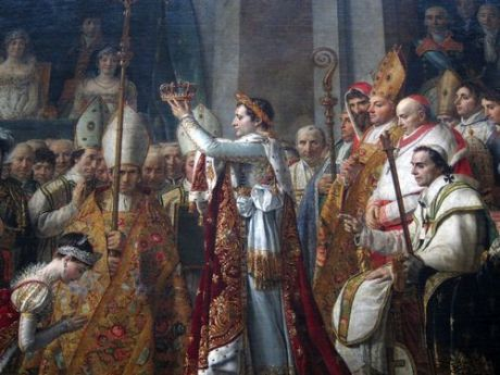 Coronación del Emperador Napoleón. Museo del Louvre. Primera Planta.