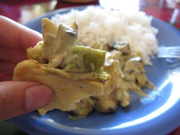 Curry de champiñones