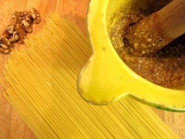 Spaguetti con salsa de nueces