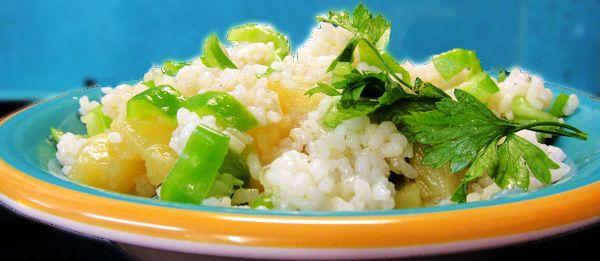 Ensalada hawaiana de arroz
