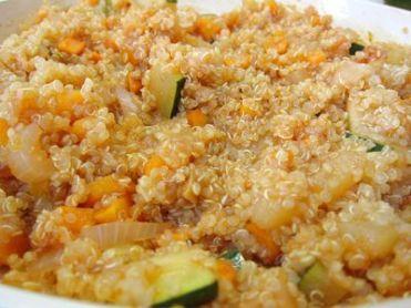 Pimientos verdes rellenos de quinoa con verduritas 12