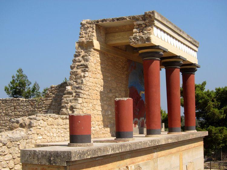 visita el palacio de Knossos en Creta por tu cuenta