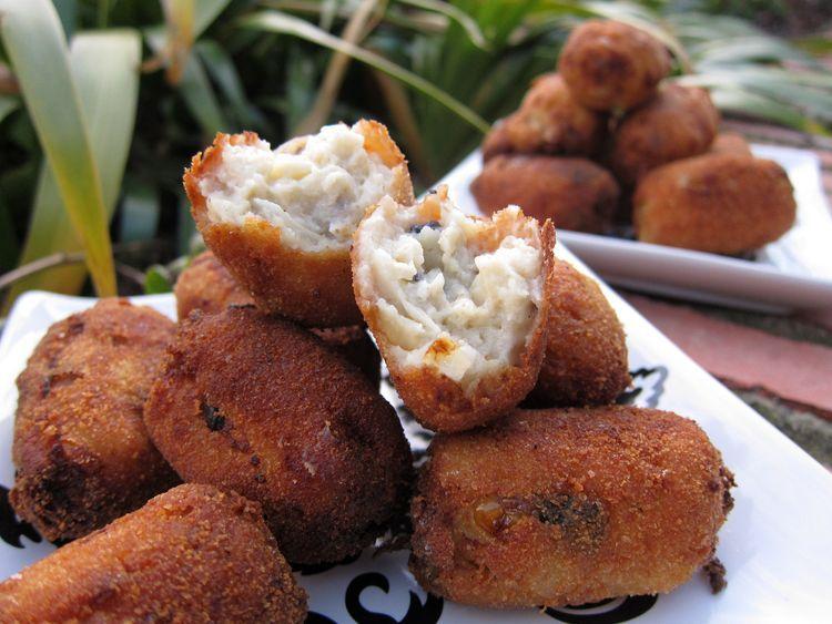Croquetas de champiñones y queso azul