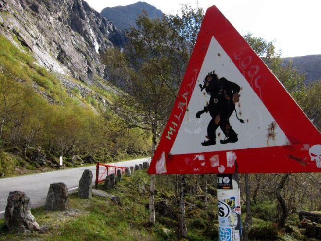 Trollstigen, La Carretera del Troll