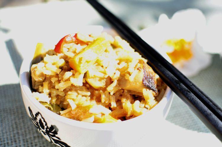 arroz con verduras estilo oriental