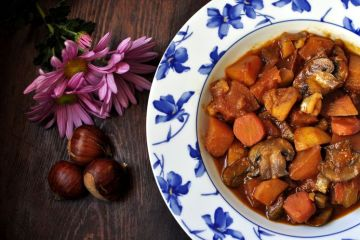 goulash vegano de castanas