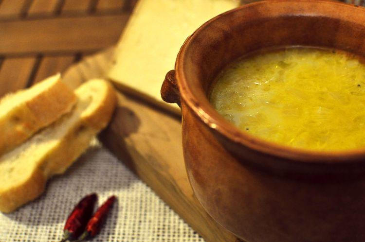 Sopa de cerveza y queso