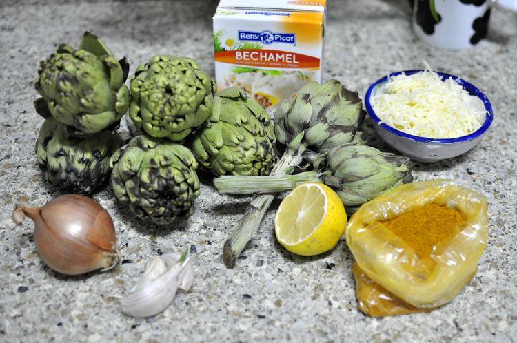 Alcachofas al horno con curry