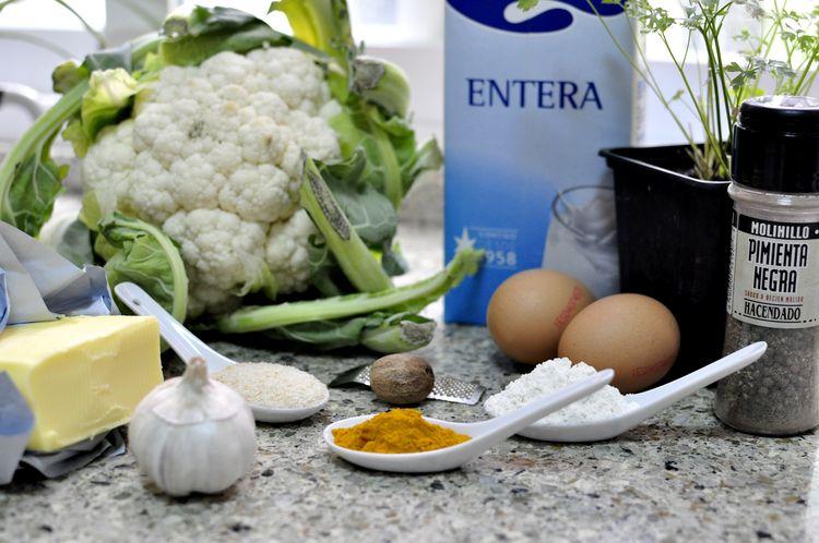 croquetas de coliflor y cúrcuma