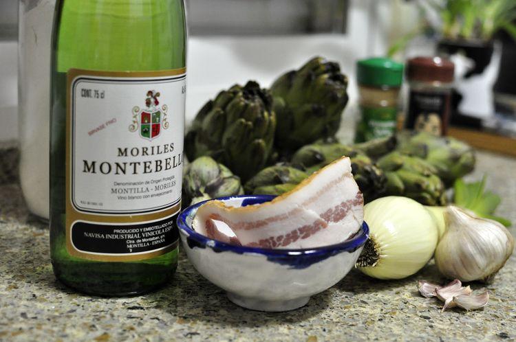 alcachofas a la montillana receta