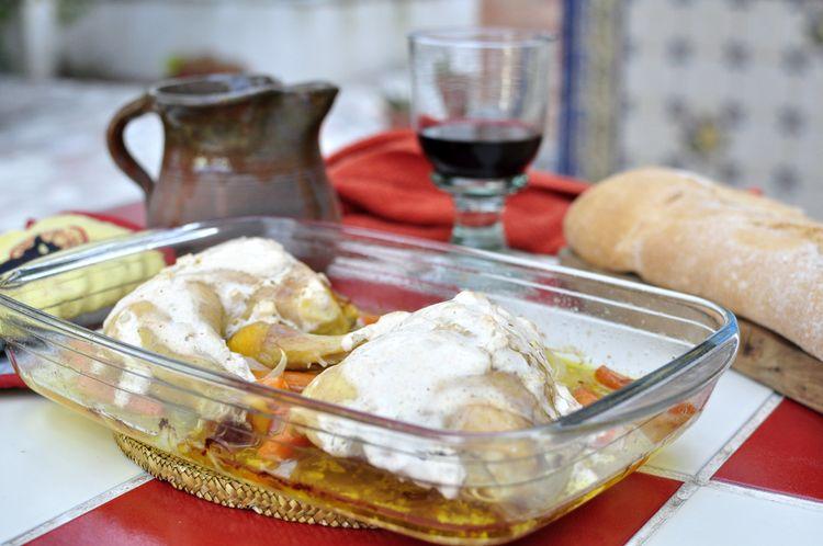 pollo con yogur y especias