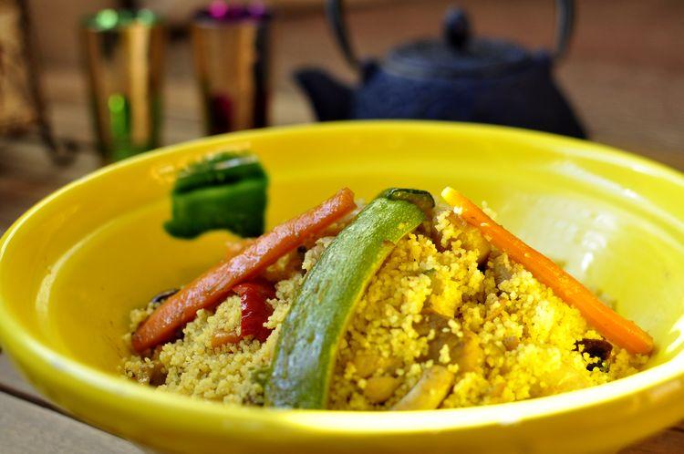 Cuscús con pollo y verduras (receta de Marruecos)