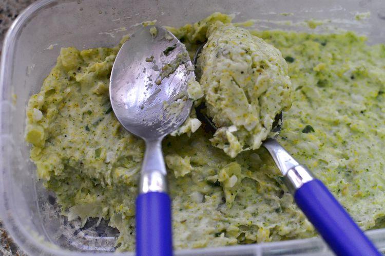croquetas de brócoli y queso emmental