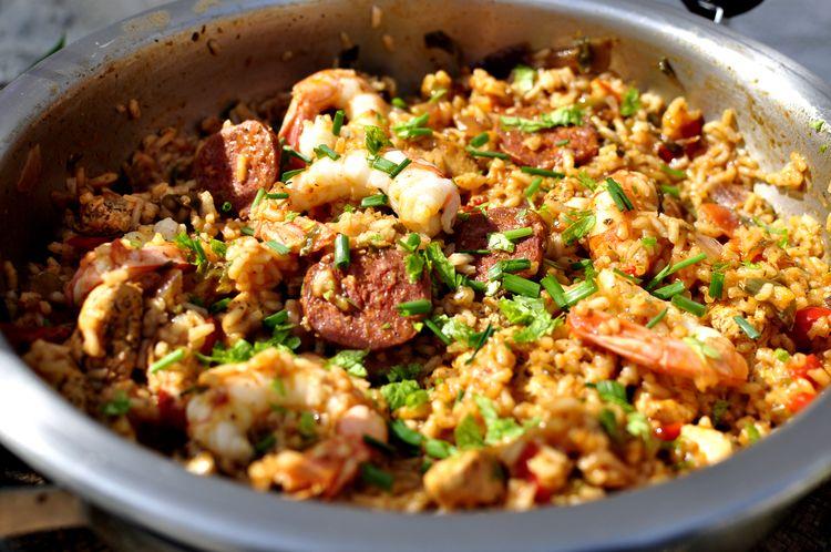 Jambalaya criollo, la paella de Louisiana.