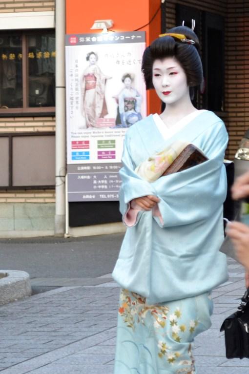Geisha en el barrio de Gion (Kioto)