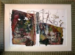 Papillon et végétal- gravure Monique Roux-Revelli