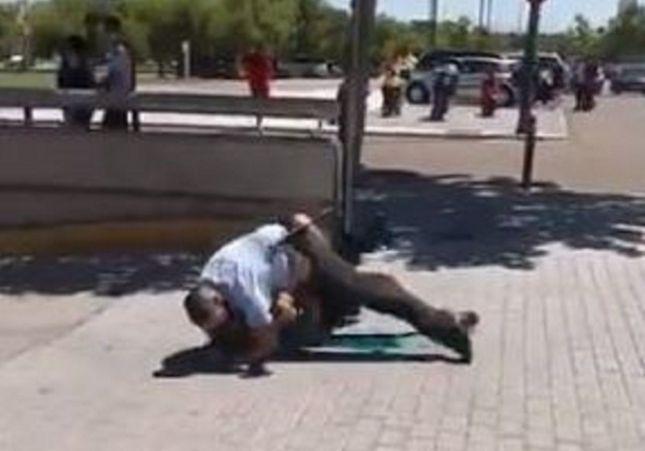 Brutal enfrentamiento entre un vigilante de seguridad del Decathlon y un ladrón
