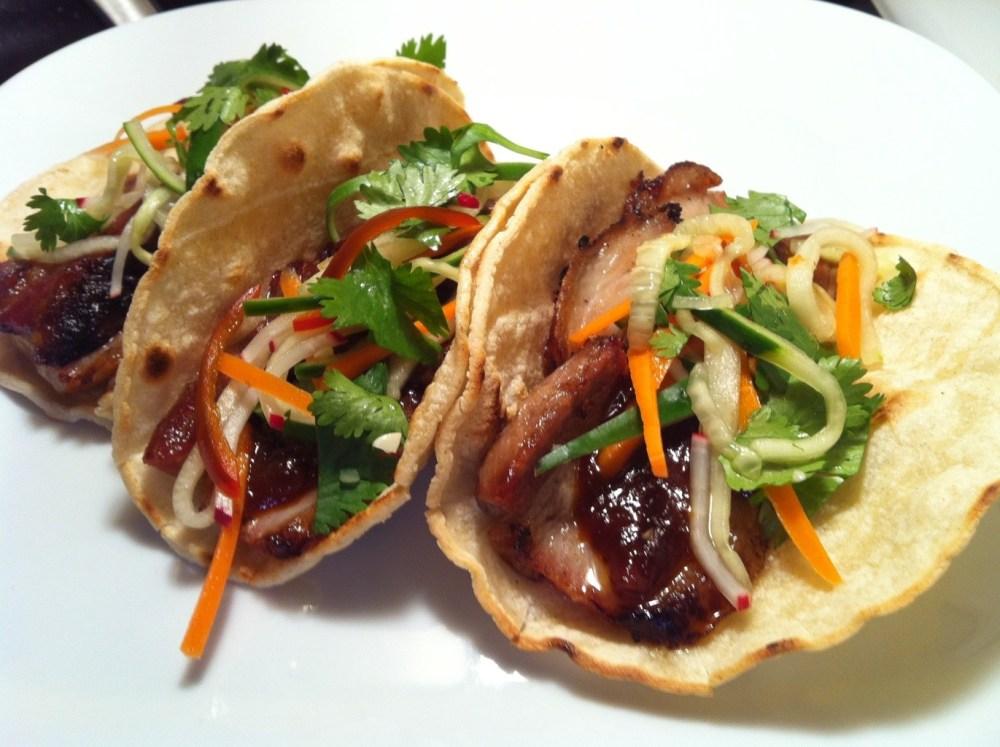 Braised pork belly tacos (2/2)