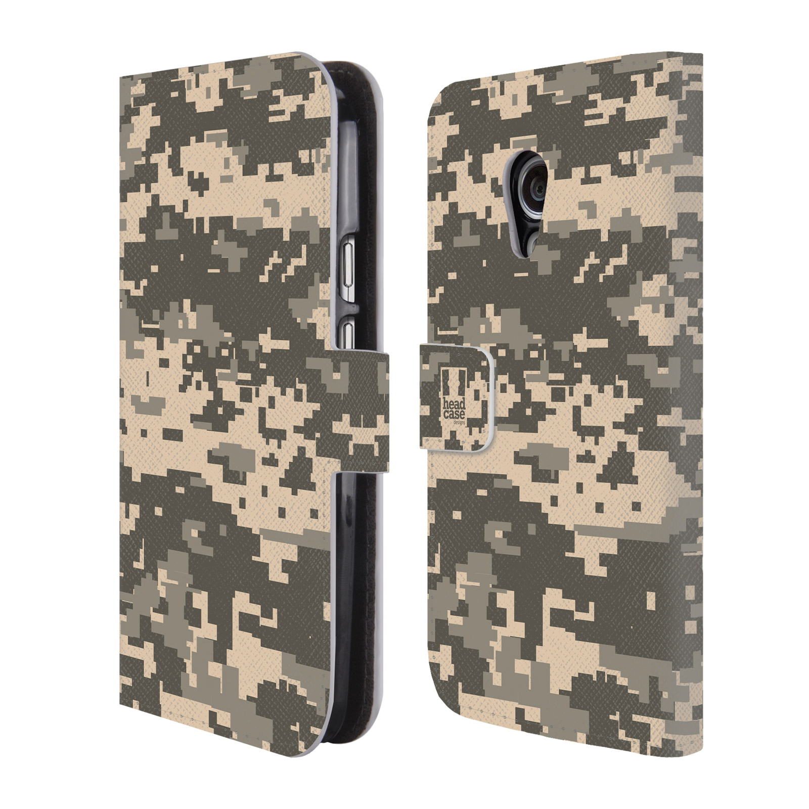 Head Case Design Military Camo 2 Leather Book Wallet