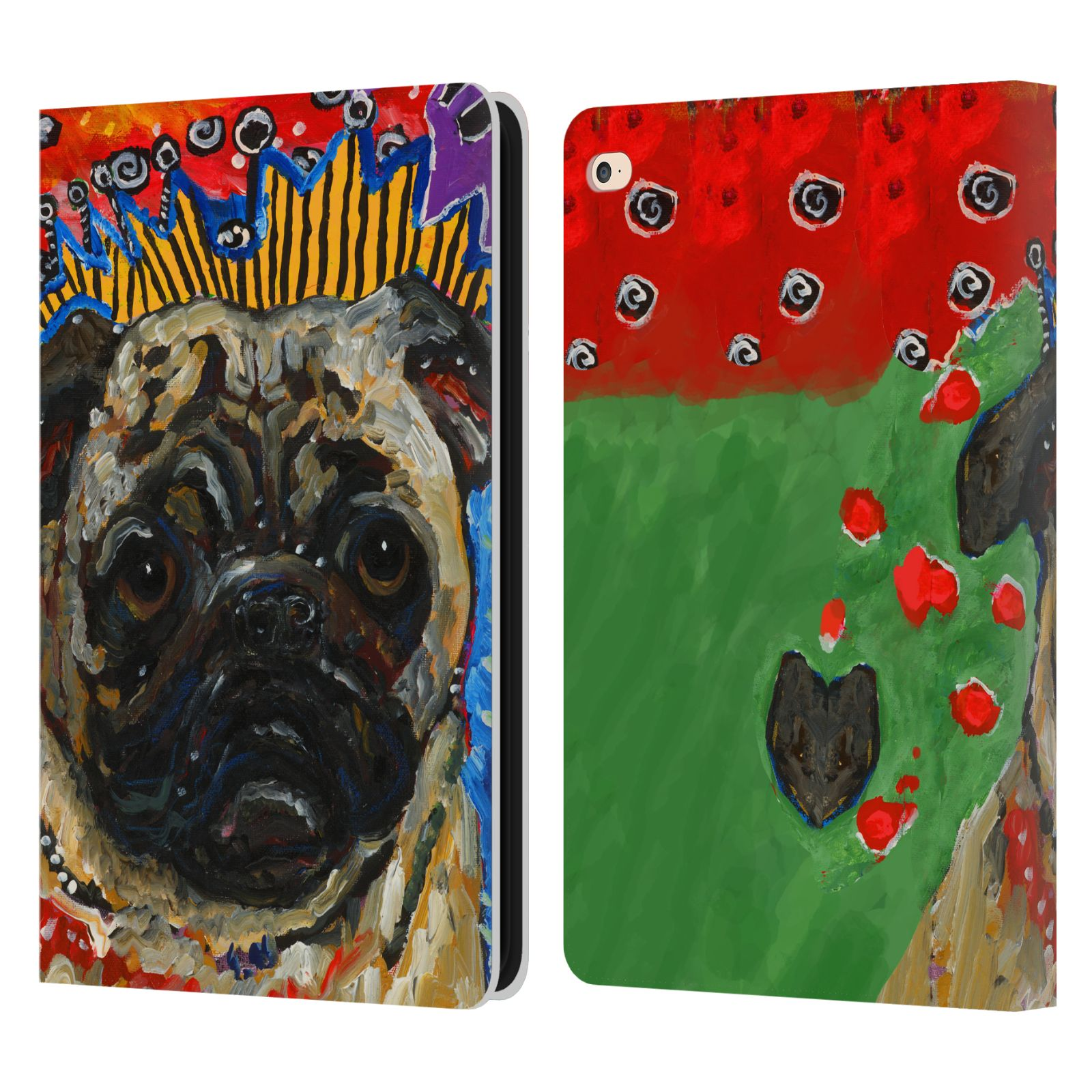 Official Mad Dog Art Dogs Leather Book Wallet Case