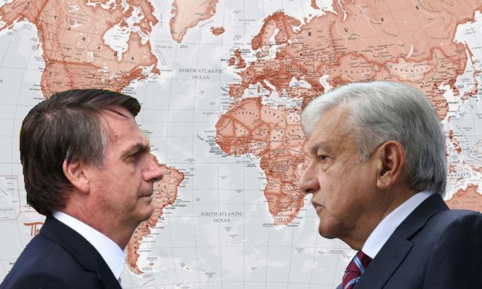 Jair Bolsonaro y Andrés Manuel López Obrador