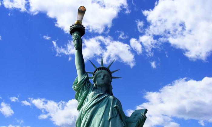 marihuana, nueva york, estatua libertad, cannabis, weed