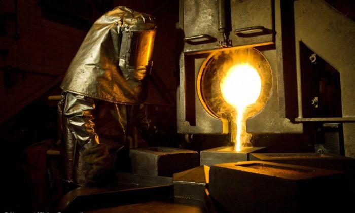 Fundición de oro de Newmont Mining