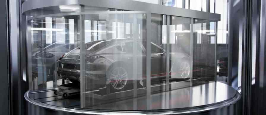 Elevador en Torre Porsche