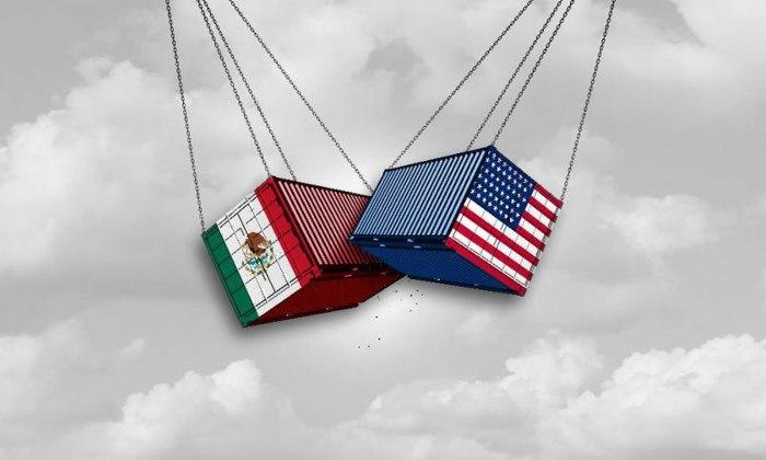 Comercio entre México y Estados Unidos.