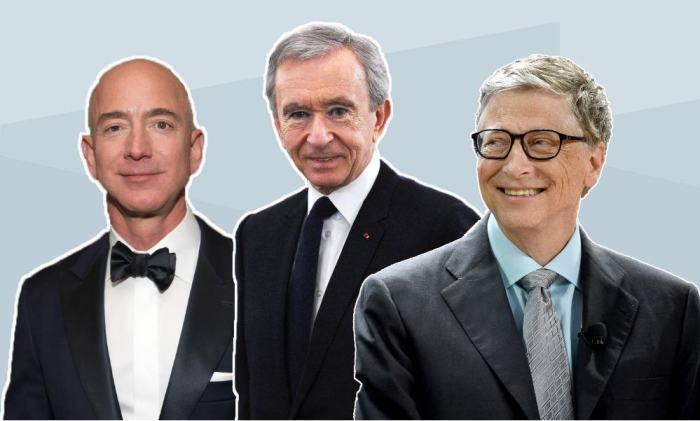 Jeff Bezos, Bernard Arnault, Bill Gates