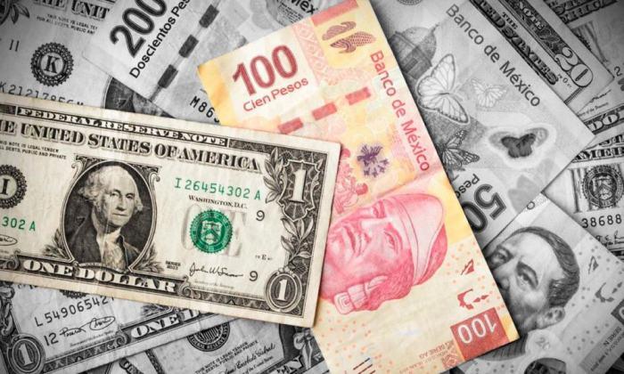 Pesos por dólar