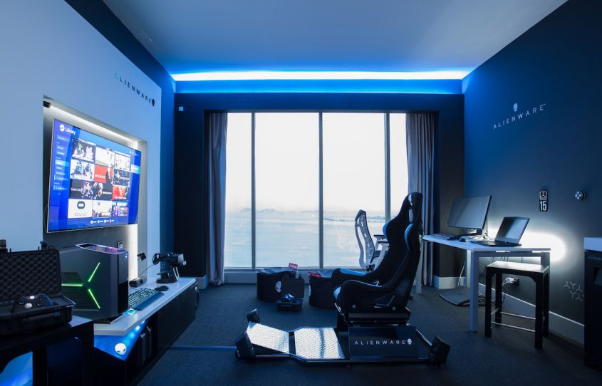 Alienware sube el listn habitaciones de hotel gaming en