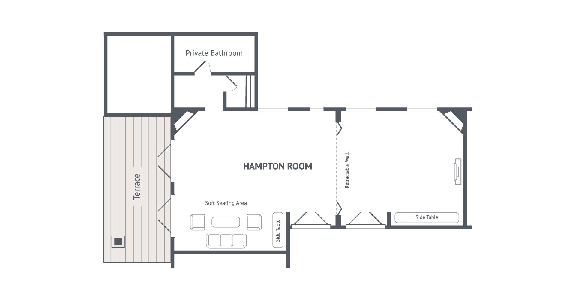 hight resolution of hampton room diagram