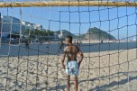Praia e futebol