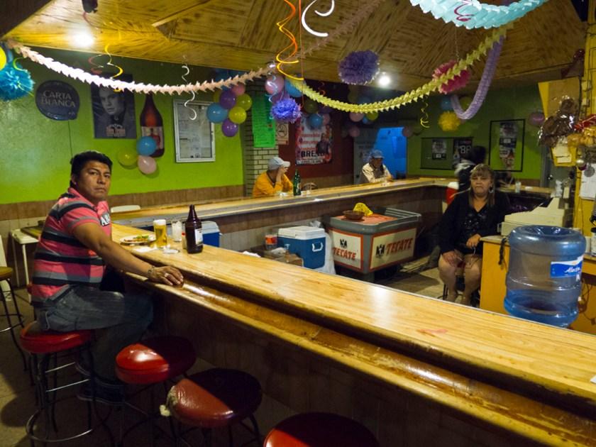 the oldest bar in Juarez, the Buen Tiempo