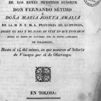 1828 El Viaje por Vitoria del rey Fernando VII