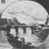 Construcción del PUENTE DE ELCIEGO sobre el río Ebro (1861-1875)