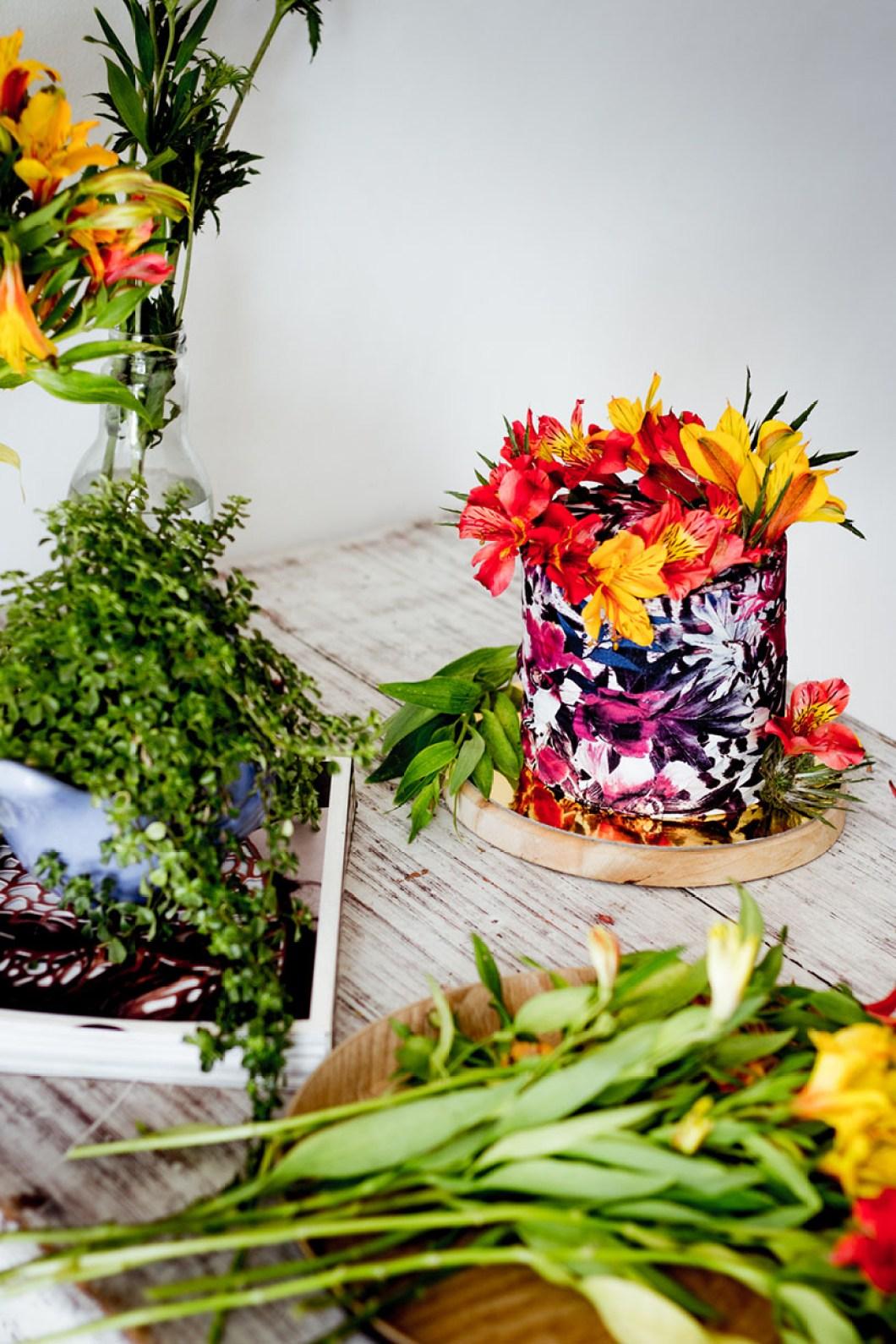 floral print cake 01